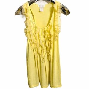 Miss Me couture yellow fringy and sequin tank top